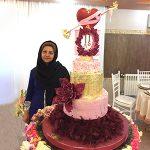 multi-layered cake